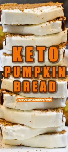 It's a perfected keto pumpkin bread.It took a few tries but this recipe for low carb pumpkin bread produces the best, most delicious low carb, keto-friendly pumpkin bread. Topped with cream cheese frosting for the perfect pumpkin treat. #ketopumpkinbread #lowcarbpumpkinbread #ketopumpkinrecipe #lowcarbpumpkinrecipe #lowcarbquickbread #ketoquickbread Best Low Carb Bread, Lowest Carb Bread Recipe, Quick Bread, Keto Bread, Low Carb Sweets, Low Carb Desserts, Low Carb Recipes, Starbucks Pumpkin Bread, Pumpkin Recipes