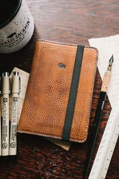 Dakota Leather Field Notes Cover - Saddle Tan
