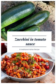 Zucchini in Tomato Sauce: a Traditional Italian Recipe to be made at home. Easy to make, these zucchinis are perfect as a side dish but they can also be used to season your pasta. Follow this very Italian recipe and make your zucchini in tomato sauce. #italianfood #recipe #ideas #cooking #food