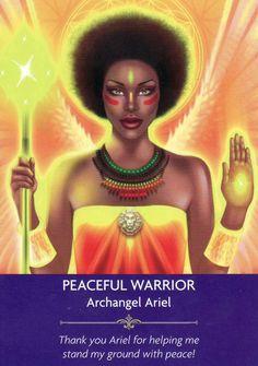 peaceful warrior-angel prayers life of HIMM - History Angel Guidance, Spiritual Guidance, Kyle Gray, Angel Prayers, Novena Prayers, Oracle Tarot, Oracle Deck, Angel Warrior, Doreen Virtue