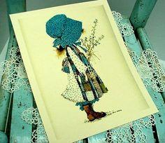 Holly Hobbie print - a piece of pure nostalgia for me - I so loved by Holly Hobbie ragdoll!