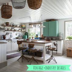 Shabby Chic JoyIndustrial Hints for a bright Vintage Kitchen !!by Shabby Chic Joy