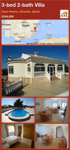 3-bed 2-bath Villa in Daya Nueva, Alicante, Spain ►€249,000 #PropertyForSaleInSpain