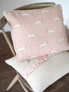 Jack All Star Cushions in Pink Icing by Peony and Sage handmade by Clarabelle Interiors