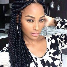 Block braid inspo on Pinterest | Box Braids, Poetic Justice and Braids