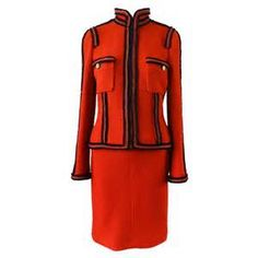 Chanel 09A Red Runway Skirt Suit
