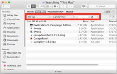 Het vinden van grote bestandsgrootte bestanden in Mac OS X zoeken kan helpen duidelijk uit opstartschijf dat vol