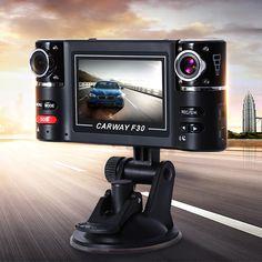 Car DVR 2.7'' HD TFT Dual Lens Car Camera Night Vision Car DVRs Windshield Driving Camcorder Video Recorder Rear View Dash Cam