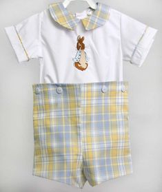 Bunny Romper for Baby Boy Easter Outfit, Peter Rabbit Outfit for Boy, Boys Easter Outfit, Boy Easter Outfit 293360