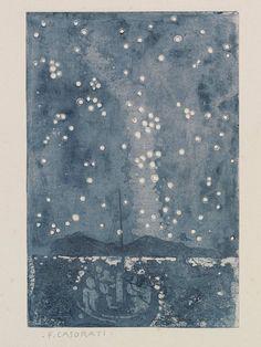 Milky Way with Boats (1912). Felice Casorati.