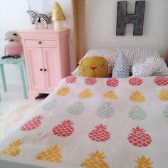 @The Spearmint Blogs kids room with the Mini Bohème Lion Pillow