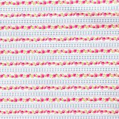 Blue Gingham Lace Stripe £3.25 http://www.thehomemakery.co.uk/fabric/fabric-all/blue-gingham-lace-fabric