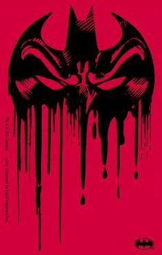 Licenses Products DC Comics Batman Drippy Logo Sticker $3.68 (save $1.31)