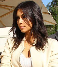 Corte médio da Kim Kardashian #longbob #cabelo #hair