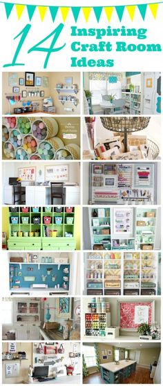 14 Inspiring Craft Room Ideas - Addicted 2 DIYLove these amazing craft room ideas!  #craftroom #organizing