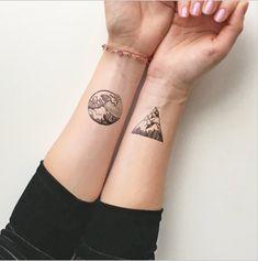 Waves + Mountain Tattoos