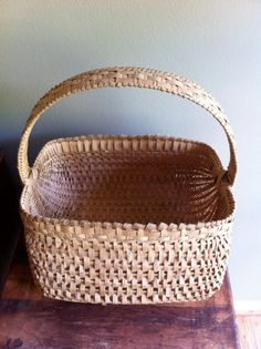 Handwoven White Oak basket..look at the detail on the handle....a work of art!