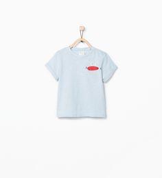ZARA - ÚLTIMA SEMANA - T-shirt estampado sorriso