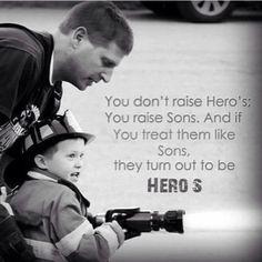 My fireman son is my hero ❤️