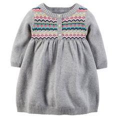Carter's Fairisle Sweater Dress - Baby Girl