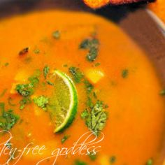 Mexican Pumpkin Soup Recipe with cubenelle peppers. Great fall soup :)