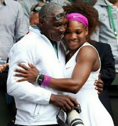 Father & Daughter:              This is beautiful! Serena Williams's father, Richard Williams was there for her 21st Grand Slam title just as he's been there since the beginning!
