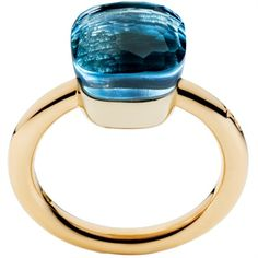 Pomellato ring Nuovo Nudo, with London Blue Topaz #ring €1350 pretty