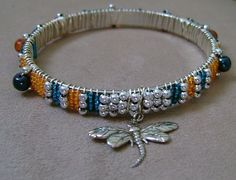 Dragonfly Seed Bead Bangle starts @ $10 @Tophatter