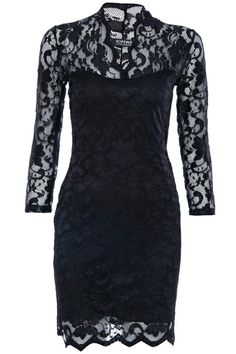 Shop ROMWE Scallop Neck Lace Black Bodycon Dress at ROMWE, discover more fashion styles online. Dress P, Party Dress, Bodycon Dress, Formal Cocktail Dress, Lovely Dresses, Awesome Dresses, Clothing Sites, Latest Street Fashion, Bago