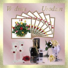 Urodziny i imieniny: Gify urodzinowe Beautiful Roses, Decor, Flowers, Decoration, Decorating, Deco