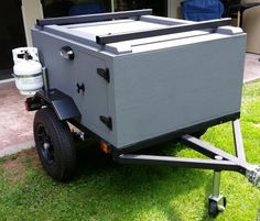 Here is Keith's micro sized Explorer Box camping trailer. It is almost ready for camping adventures, just need to get its Ayer model tent unit.