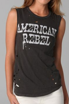 Chaser Brand American Rebel Destroyed Muscle Tee