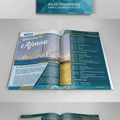 Create an information brochure for the Atlas 2016 conference in AJMAN by DolphinArt