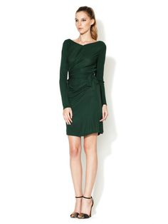 C Costello Tagliapietra Side Drape Long Sleeve Tie Dress ~ love the draping!                                                                Add Brand to Favorites                                                                          Side Drape Long Sleeve Tie Dress