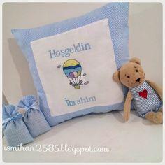 İnci Home Collection ✿: İsme özel nakış işlemeli bebek yastıkları