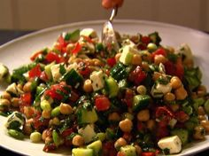 Middle Eastern Vegetable Salad, from Recipes to Repin - we love this salad - it reminds us of warm summer days eating lunch outside in Istanbul :)