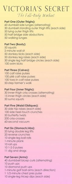 Victoria's Secret Model Full-Body Workout WHO CREATED THIS?