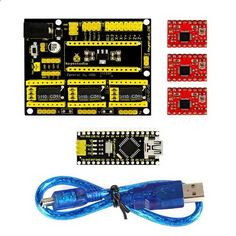 CNC kit / CNC Shield V4.0   nano 3.0   3pcs a4988 driver / GRBL Compatible. Find the cool gadgets at a incredibly low price with worldwide free shipping here. Keyestudio CNC kit / CNC Shield V4.0   nano 3.0   3pcs A4988 Driver, Kits, . Tags: #Electrical #Tools #Arduino #SCM #Supplies #Kits