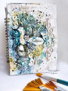Art journal background simple techniques by Ayeeda Proste tła do Art journala kurs video