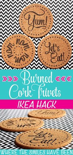 Easy Crafts To Make and Sell - Burned Ikea Cork Trivets - Cool Homemade Craft Projects You Can Sell On Etsy, at Craft Fairs, Online and in Stores. Quick and Cheap DIY Ideas that Adults and Even Teens Can Make http://diyjoy.com/easy-crafts-to-make-and-sell