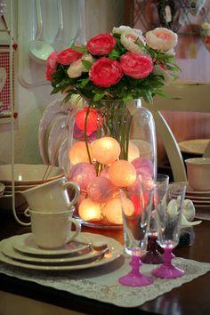 Unsere Cotton Ball Lights sind (fast) so schön wie diese Rosen! www.cottonballlights.de