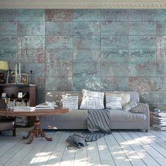 Fototapeta - Turkusowy beton Bardzo podoba się Michałowi