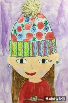 [아동미술] 나만의 겨울 모자 디자인, 멋진 모자 그리기 : 네이버 블로그 Kids Art Class, Art For Kids, Kindergarten Art Projects, Winter Art Projects, Arts Ed, Art Lesson Plans, Elementary Art, Cute Drawings, Art School