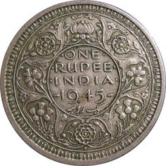 One Rupee, India, 1945 La rupia (en hindi: रुपया) es la moneda oficial de la República de la India. Where To Buy Gold, Mother India, History Of India, Ancient History, Vintage India, Antique Coins, World Coins, Rare Coins, Coin Collecting