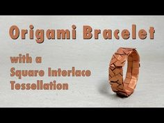 "Instructions on how to fold an origami bracelet featuring the ""Square Interlace Tessellation""; Designed by Michał Kosmulski; Video by Sara Adams Origami Easy, Origami Paper, Origami Folding, Oragami, Origami Flowers Tutorial, Flower Tutorial, Tessellation Patterns, Paper Folding Techniques, Tesselations"