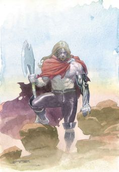 Thor is the Asgardian God of Thunder and the son of Odin, the All-Father of Asgard , the Elder Earth-Goddess. Combining the power of both worlds, Thor is arguably the greatest and mightiest defender of both . Armed with his powerful enchanted hammer Mjolnir, Thor is the mightiest warrior of Asgard, a founding member of the Avengers and one of the strongest, most powerful beings on Earth.