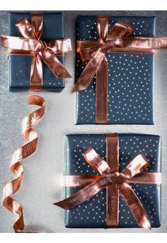NEW Fabulous Wired Copper Ribbon - Christmas