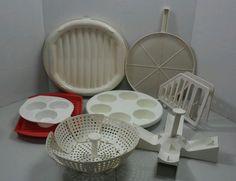 "Vintage 8 piece Cook ""n Serve Set Microwave Cookware Accessories in Home & Garden, Kitchen, Dining & Bar, Kitchen Tools & Gadgets   eBay"
