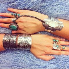 silver & turquoise jewelry---I need more!!!