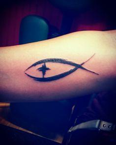 Christian fish symbol tattoo